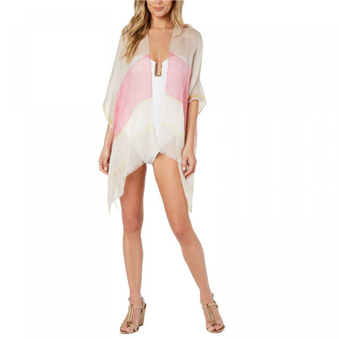 Calvin Klein Women's Vacay Chic Striped Beach Cover-Up