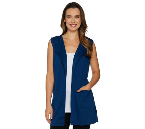 Joan Rivers Classics Collection Women's Open Front Vest with Pockets. A288758
