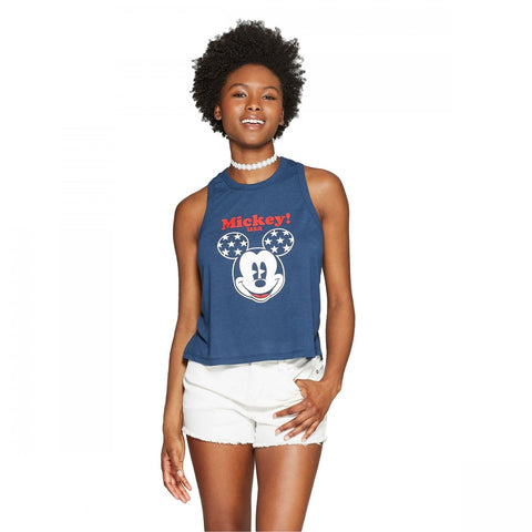 ModernLux Women's Disney Mickey USA Tank Top