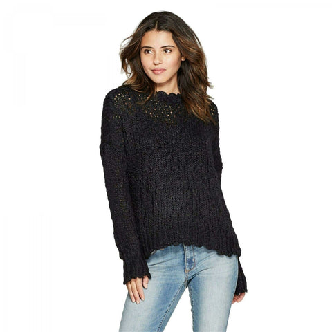 Universal Thread Women's Bumpy Textured Boucle Pullover Sweater