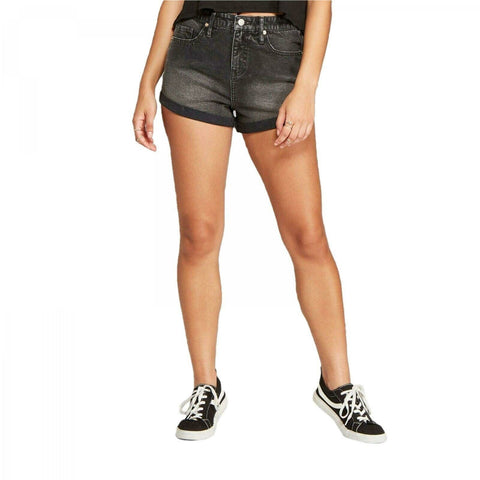 Wild Fable Women's High-Rise Rolled Cuff Denim Short Shorts