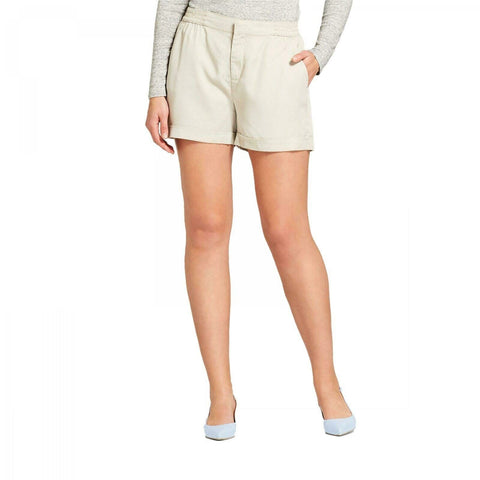 A New Day Women's Elastic Back Easy Waist Twill Shorts