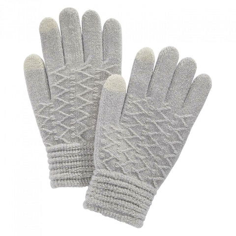 Steve Madden Women's Zigzag Touchscreen Gloves