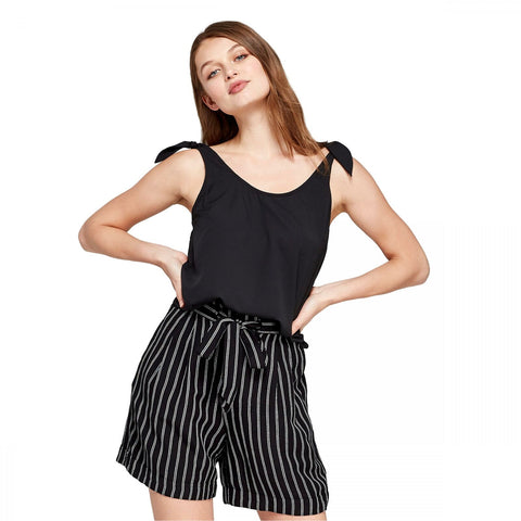 A New Day Women's Crepe Tie Shoulder Tank Top Shirt Blouse