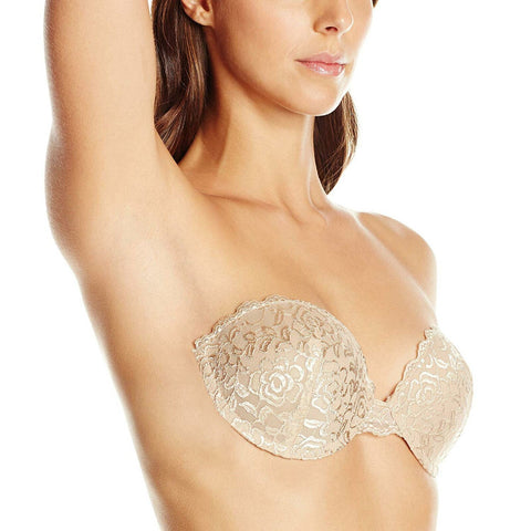 Fashion Forms Women's Lace Ultimate Boost Adhesive Strapless Backless Bra