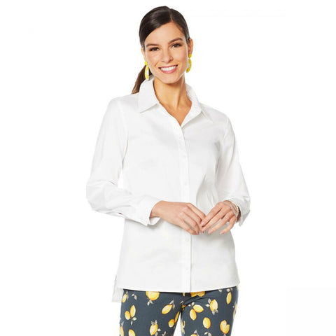 Lemon Way Women's On-the-Go Wrinkle Resistant Button-Down Shirt