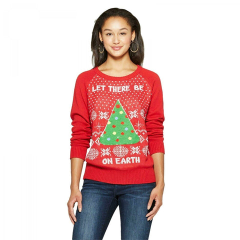 Well Worn Women's Let There be Pizza Reversible Ugly Christmas Sweater