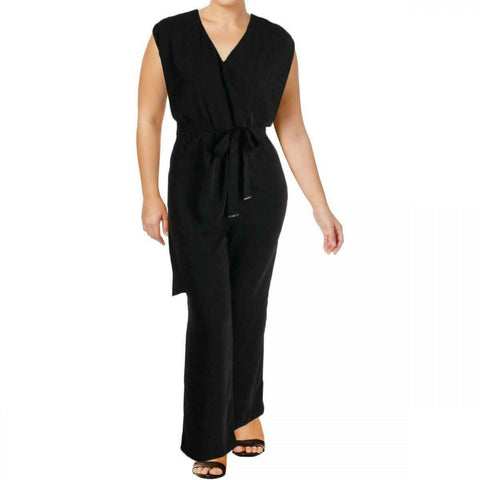 Lauren by Ralph Lauren Womens Awinita Belted Jumpsuit. 202671228001 Black 16