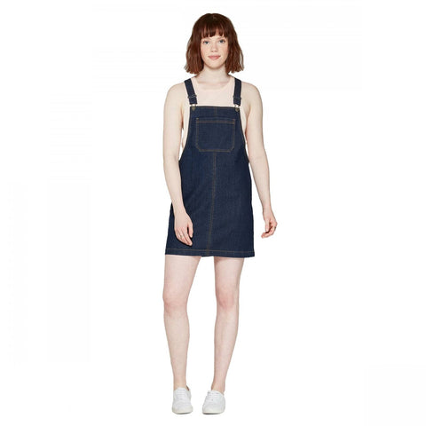 Wild Fable Women's Strappy Dark Wash Denim Pinafore Dress