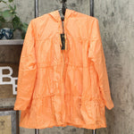 DG2 by Diane Gilman Women's Water-Resistant Hooded Tiered Raincoat