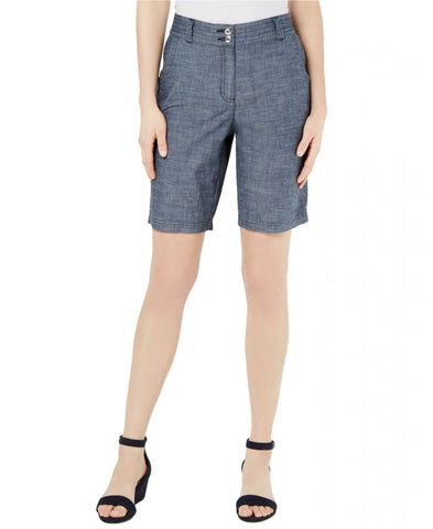 Karen Scott Women's 10 Inch Cotton Chambray Shorts. 100036096MS