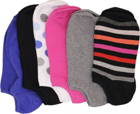 HUE Women's 6-Pack Cotton Athletic No Show Socks. U6421