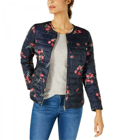 Charter Club Women's Petite Reversible Floral Quilted Jacket. 100039748PT