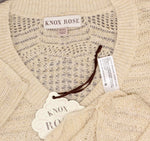 Knox Rose Women's Long Sleeve Pointelle Pullover Sweater