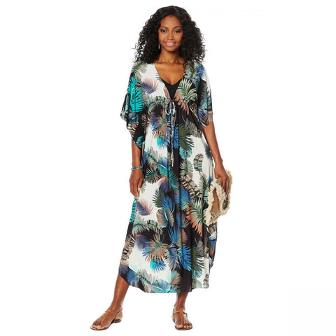 Coldesina Women's Shirred Kaftan Dress