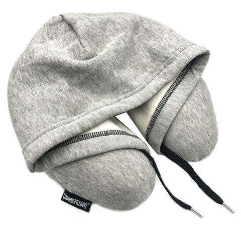 HoodiePillow Inflatable Travel Hoodie Neck Pillow