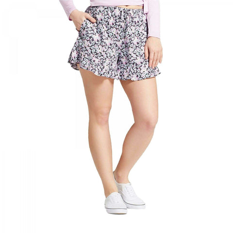 Mossimo Women's Floral Flowy Ruffle Shorts