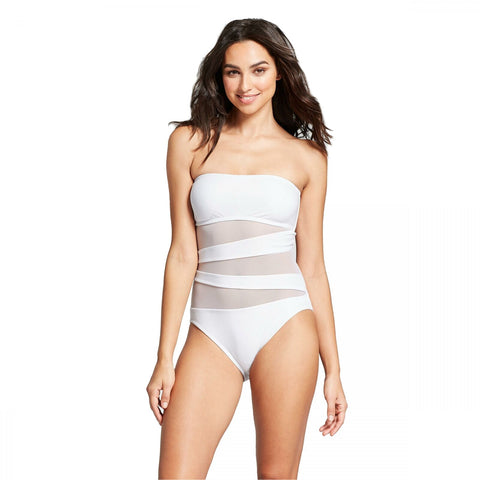 Mossimo Women's Mesh Inset One Piece Swimsuit