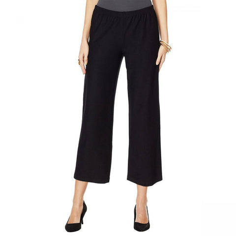 MarlaWynne WynneLayers Women's Straight Cropped Crepe Pants