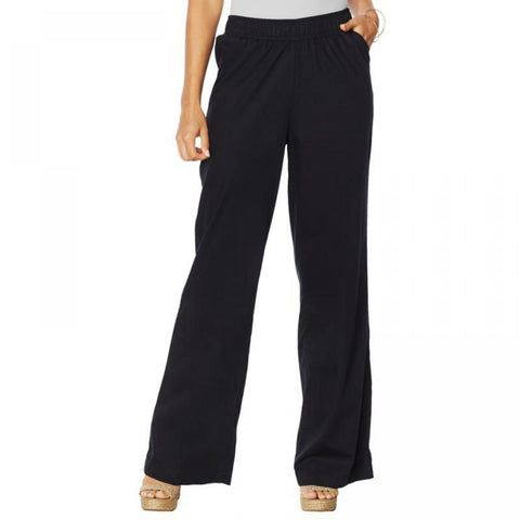 DG2 by Diane Gilman Women's SoftCell Denim Wide Leg Pants