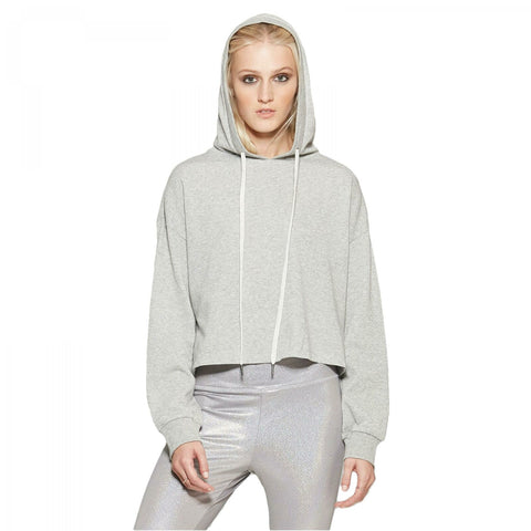 Wild Fable Women's Long Sleeve Lurex Cropped French Terry Hoodie Top