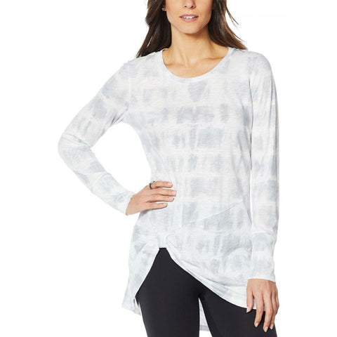 G by Giuliana Women's Jet Set Slub Knit Knot Front Tunic Top