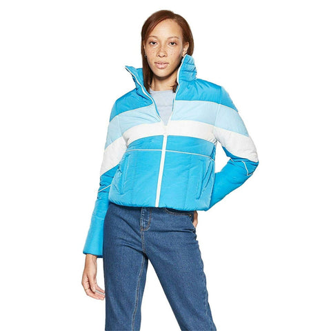 Wild Fable Women's Color Blocked Puffer Jacket