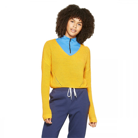 Wild Fable Women's Long Sleeve Pullover V-Neck Sweater