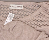 Knox Rose Women's Long Sleeve Mixed Stitch Pullover Sweater