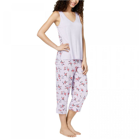 Alfani Women's Tank Printed Panel Pajama Pant Set