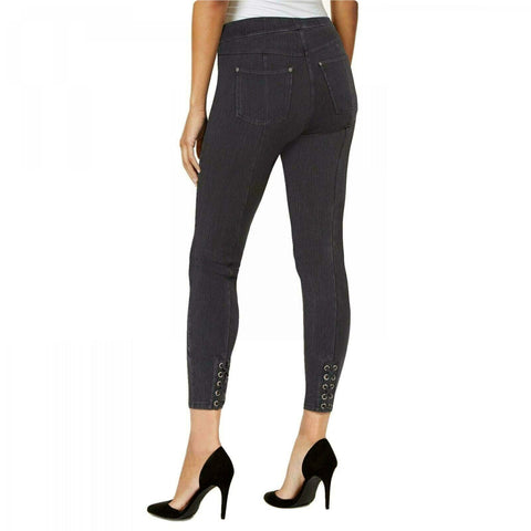 HUE Women's Denim Laced-up Skimmer Leggings . U19916H