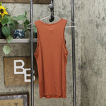 Prologue Women's Round Neck Longline Ribbed Tank Top