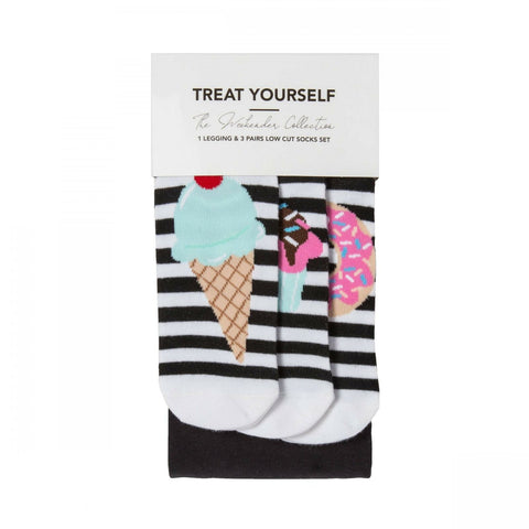 The Weekend Collection Women's Treat Yourself Socks And Leggings Set