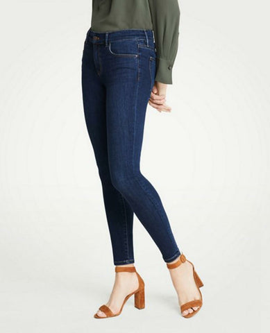 Ann Taylor Women's The Skinny Ankle Curvy Fit Jeans Blue 4