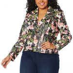 Colleen Lopez Women's Plus Size Effortlessly Edgy Faux Leather Jacket