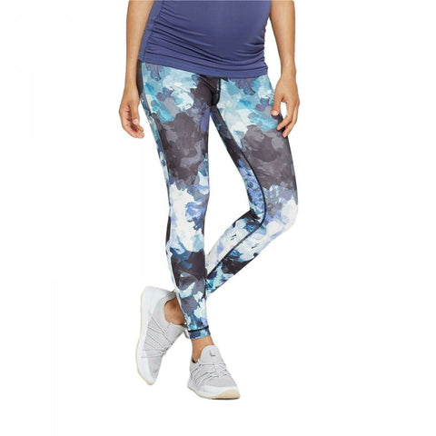 Isabel Maternity Women's Floral Print Leggings with Crossover Panel