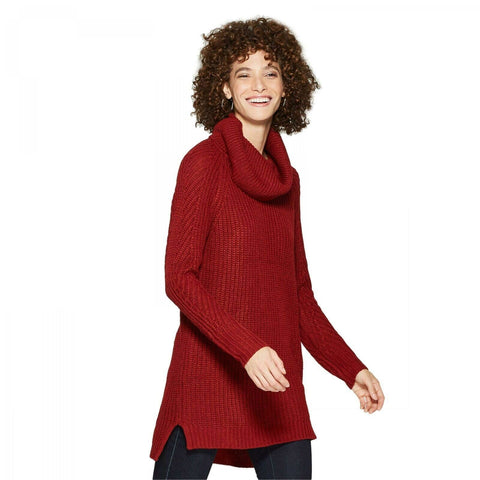 A New Day Women's Cowl Cozy Neck Chunky Pullover Sweater