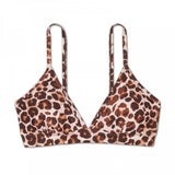 Kona Sol Women's Animal Print Bikini Swim Top