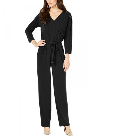 Thalia Sodi Women's Surplice Neck Embellished Jumpsuit. 100045326