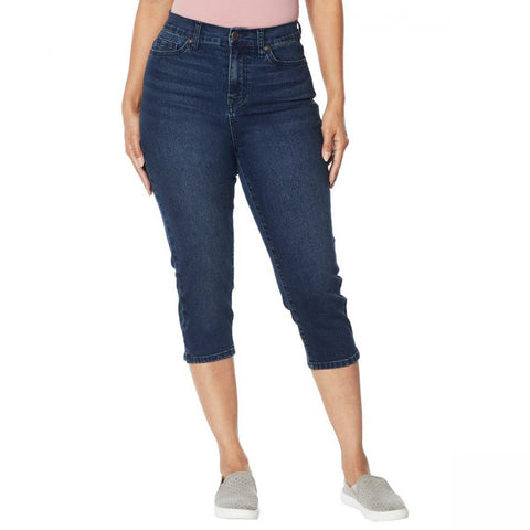 DG2 by Diane Gilman Women's Classic Stretch Denim Pedal Pusher Jeans