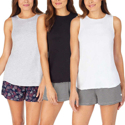 Jane And Bleecker Women's 3 Pack Lounge Tank Tops