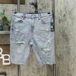 Wild Fable Women's High Rise Distressed Bermuda Jean Shorts