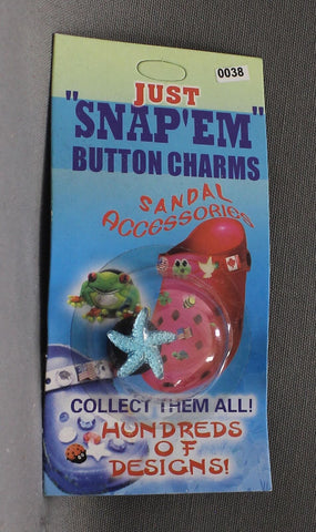 Just Snap Em Button Shoe Charms