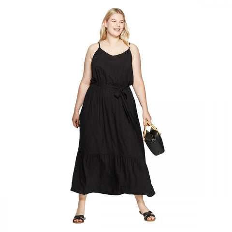Ava & Viv Women's Plus Size Sleeveless V-Neck Maxi Dress
