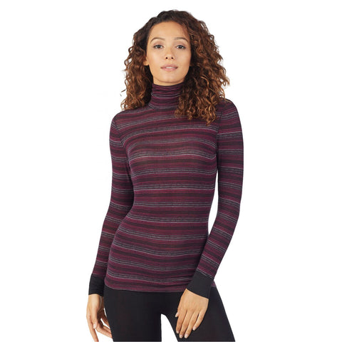Warm Essentials by Cuddl Duds Women's Smooth Stretch Warm Layers Turtleneck