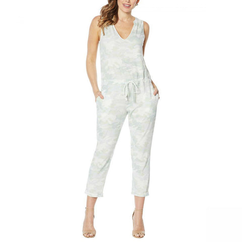 Skinnygirl Women's French Terry Sleeveless Jumpsuit