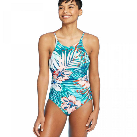 Kona Sol Women's High Neck Coverage One Piece Swimsuit