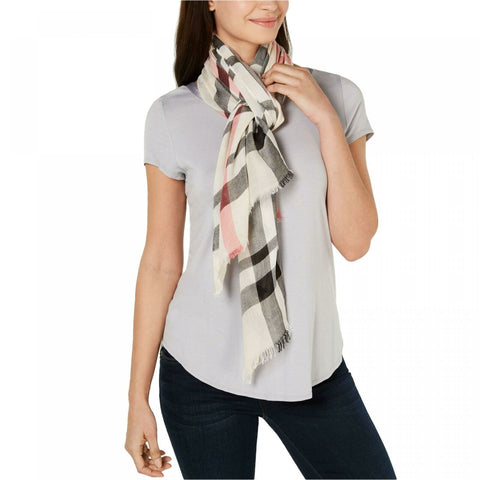 V. Fraas Women's Large Classic Plaid Wrap Scarf