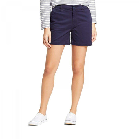A New Day Women's Stretch Cotton 5 Inch Chino Shorts