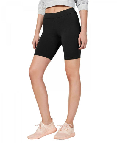 HUE Women's High-Waisted Cotton Bike Shorts U20627